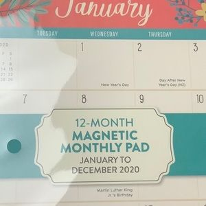 New 12 month magnetic
